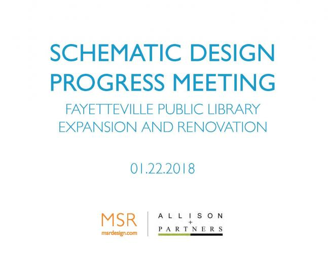 Schematic Design Progress Meeting